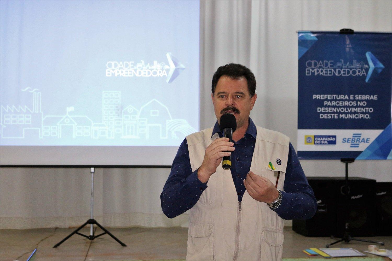 João Carlos Krug, prefeito de Chapadão do Sul, destacou a colaboração do público no evento