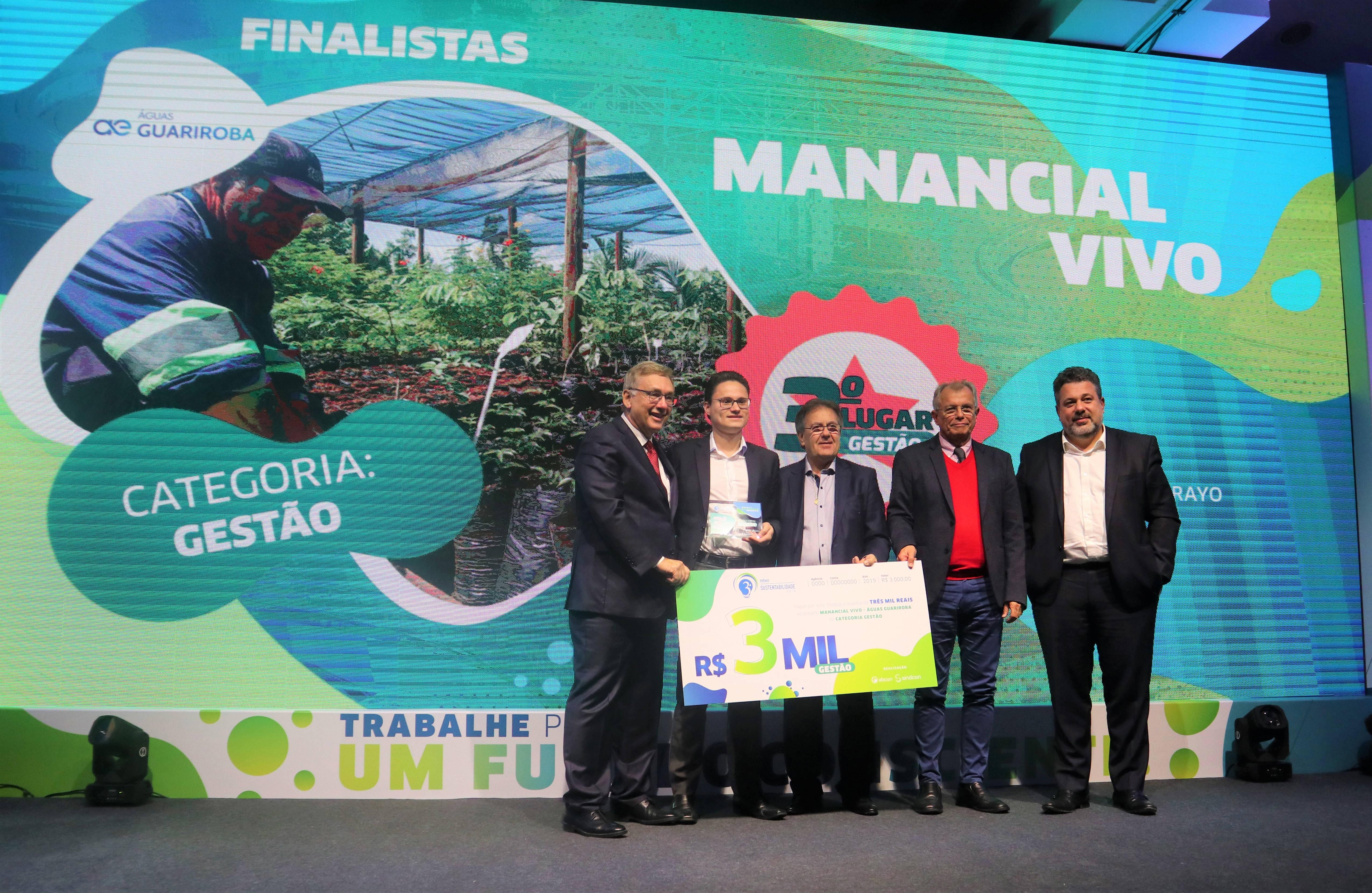 Premiação ressalta ações da concessionária que garantem a preservação das áreas de nascentes na Capital