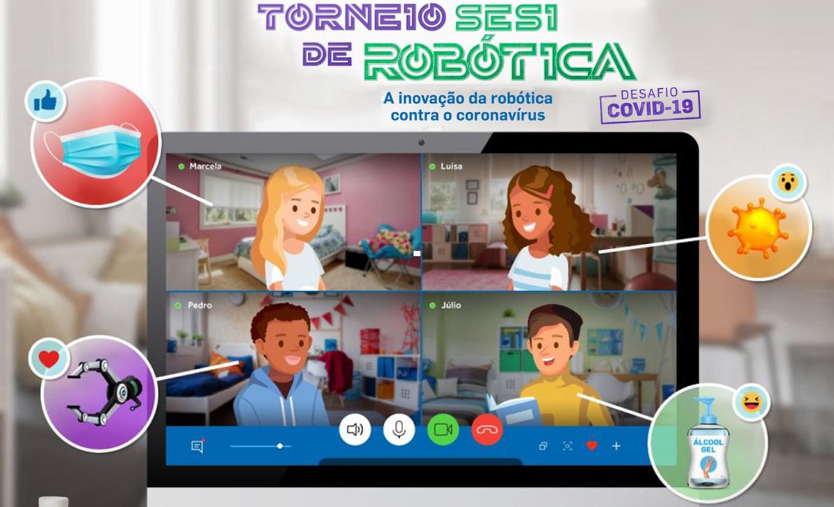 Competição desafia estudantes de todo o Brasil a criar soluções para a atual situação de saúde no mundo, utilizando a robótica educacional