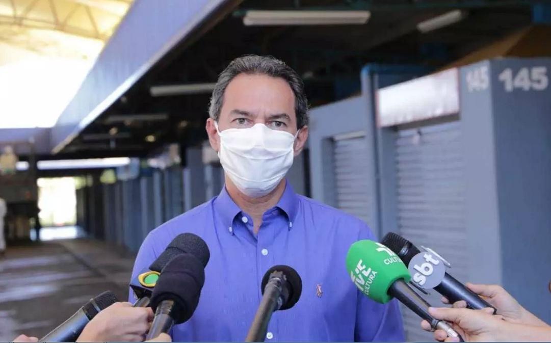 O prefeito Marquinhos Trad: medidas de restrição mais rigorosas na capital
