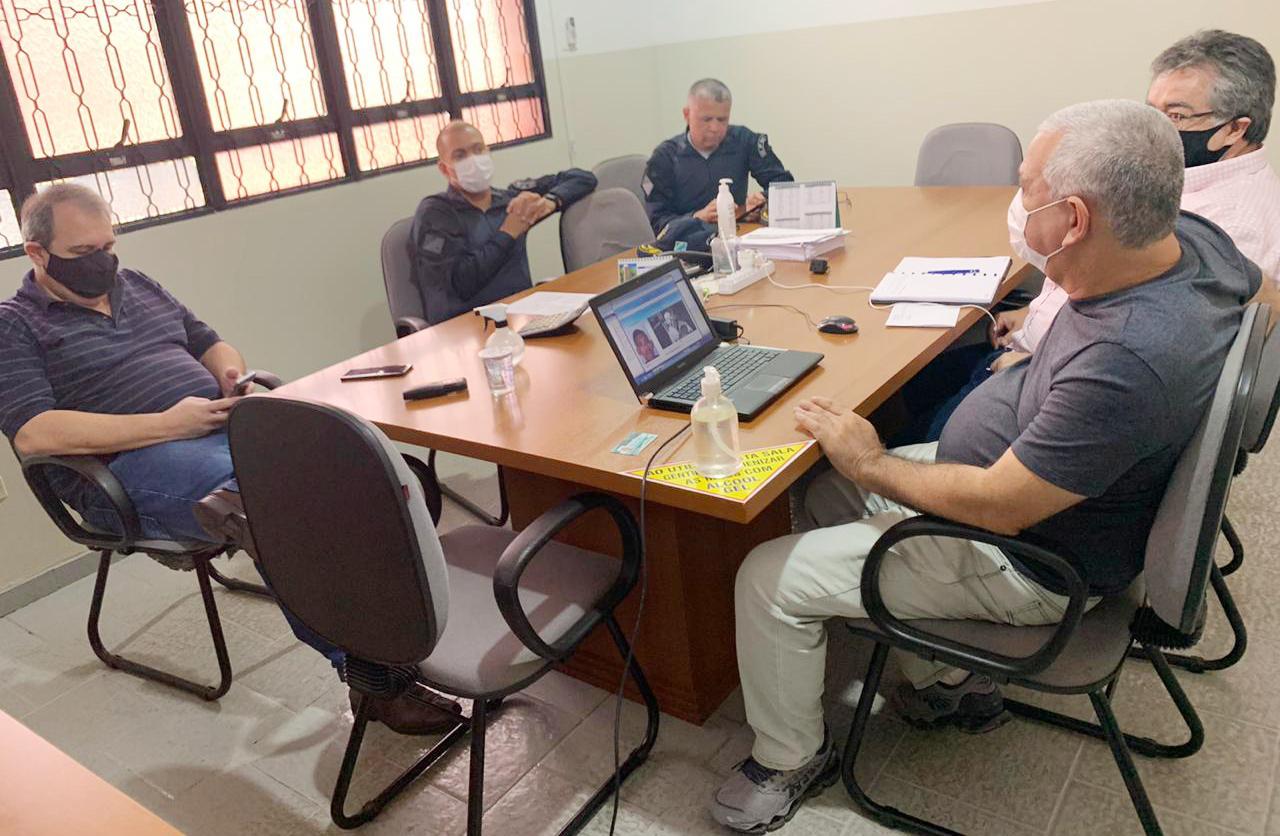 Diretores do Consórcio Guaicurus reuniram-se com representantes do Comando de Policiamento Metropolitano