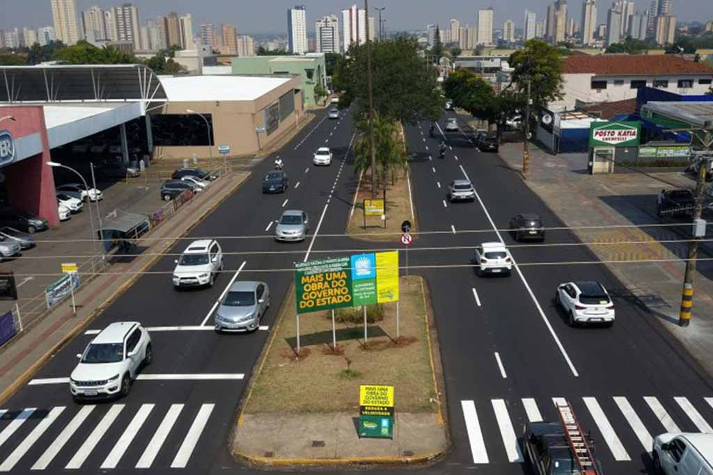 Avenida foi reconstruída nos trechos de ida e volta entre a Calógeras e a Ceará