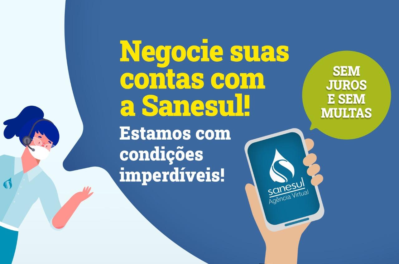 sanesul-empresa-saneamento-parcelamento-dívidas-contas-atraso-sem-juros-multas-pandemia-coronavírus-covid19-campo-grande-ms-2020