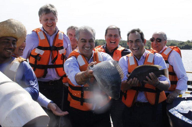 Verruck e Azambuja, na piscicultura de Selvíria: fomento decisivo para o setor